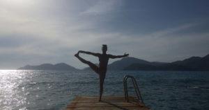 Yoga am Wasser